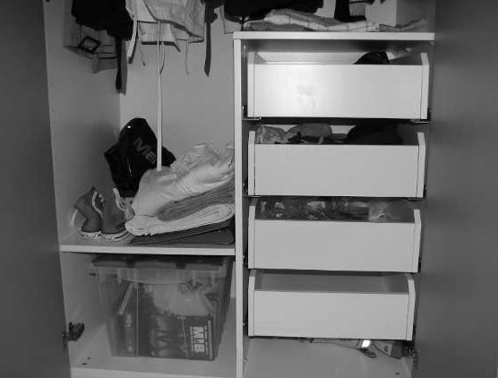 IKEA PAX small drawers in wide closet